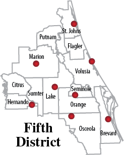 5th district office location map